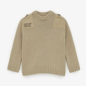Zara Tan Color Knit Sweater Size 7 years NWT